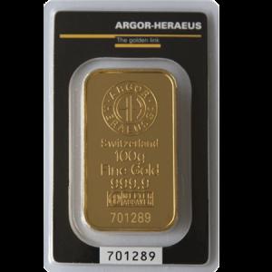 Gold Bar - 100grams obverse